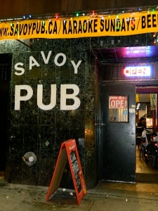 The Savoy Pub on East Hastings was our next spot...