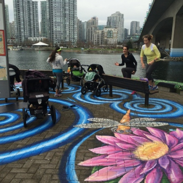 Morning workout made all the more beautiful thanks to public art!